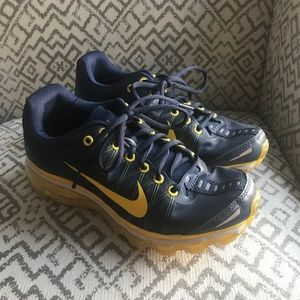 Nike Navy Blue and Yellow Air Max Fitsole 3